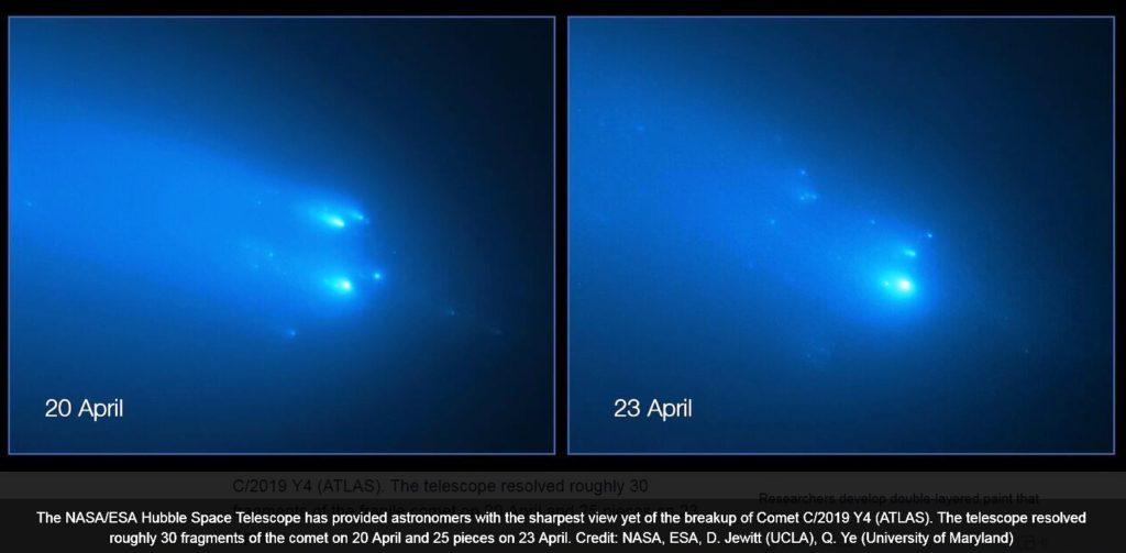 raspad komety