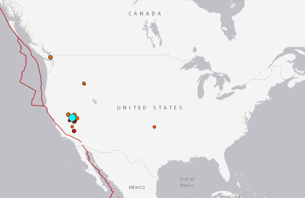 ВСША произошло землетрясение магнитудой 6,5