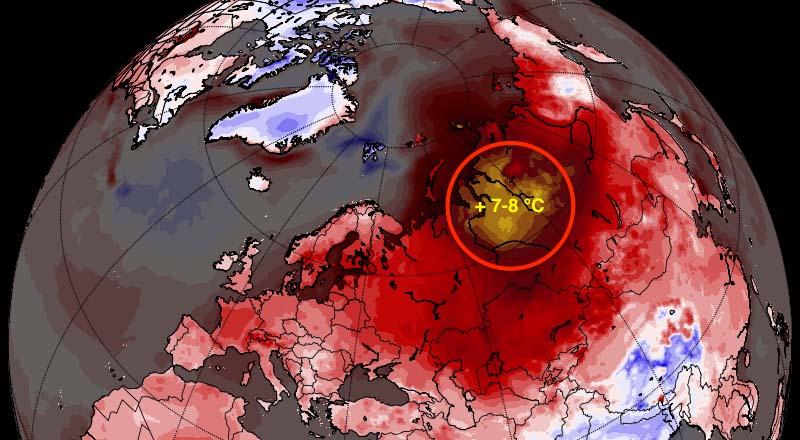 ВРоссии зафиксированы самые большие отклонения погоды отнормы вмире