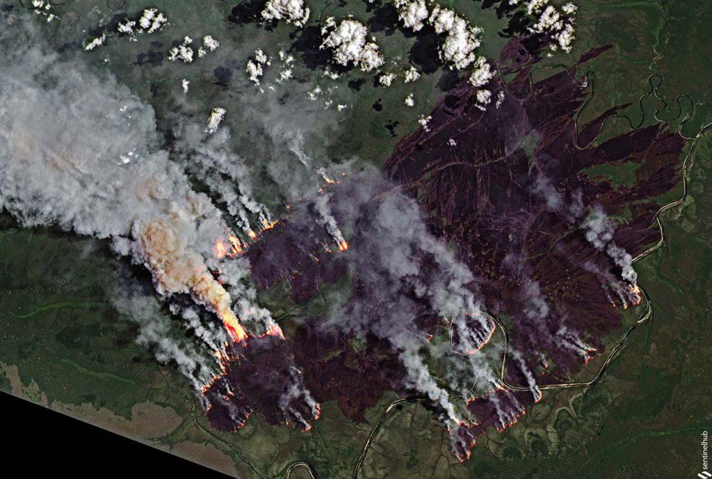 ВЯкутии продолжаются масштабные пожары. Якутск окутан дымом