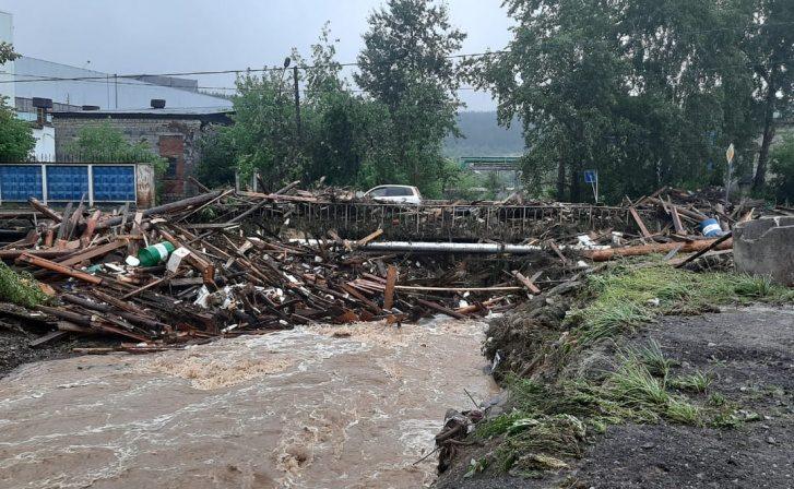 Вгороде Нижние Серги вСвердловской области из-за паводка ввели режимЧС
