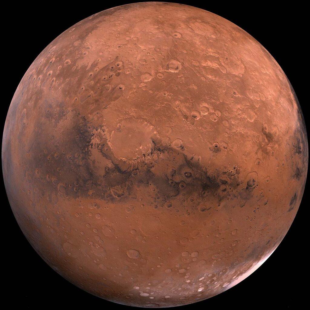 Странная спираль ультрафиолетового света обнаружена над Марсом