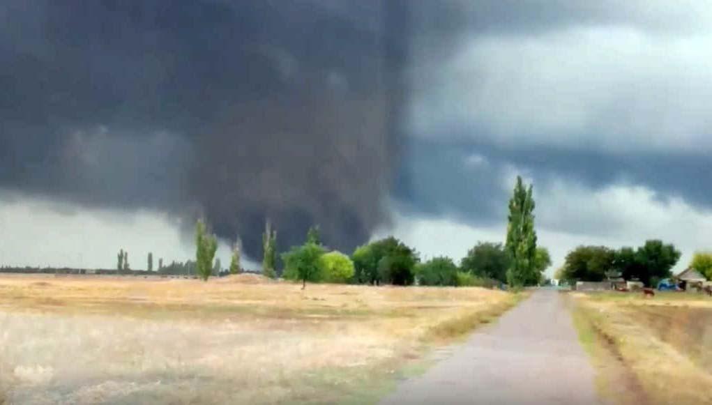 ВХерсонской области прошел торнадо