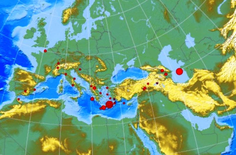 ВКаспийском море произошло землетрясение магнитудой 5,0