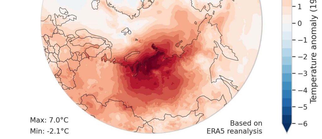 ВСибири потеплело на5−7 градусов