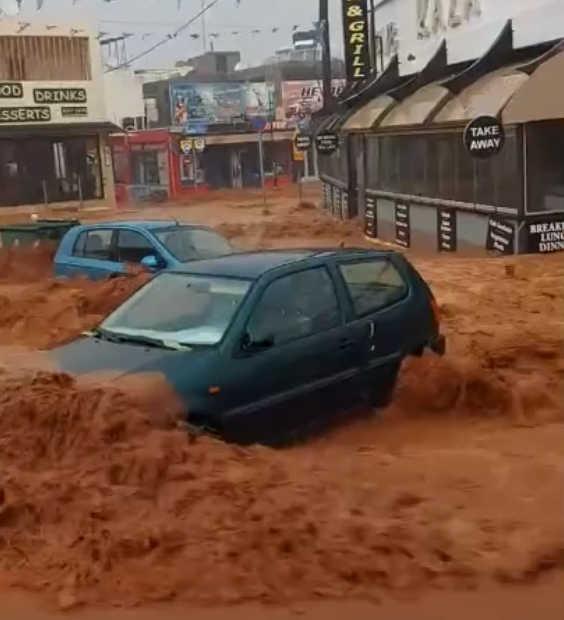 Остров Крит залило дождями. Видео очевидцев