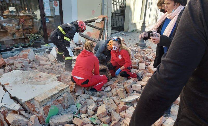ВХорватии произошло разрушительное землетрясение магнитудой 6,4. Видео