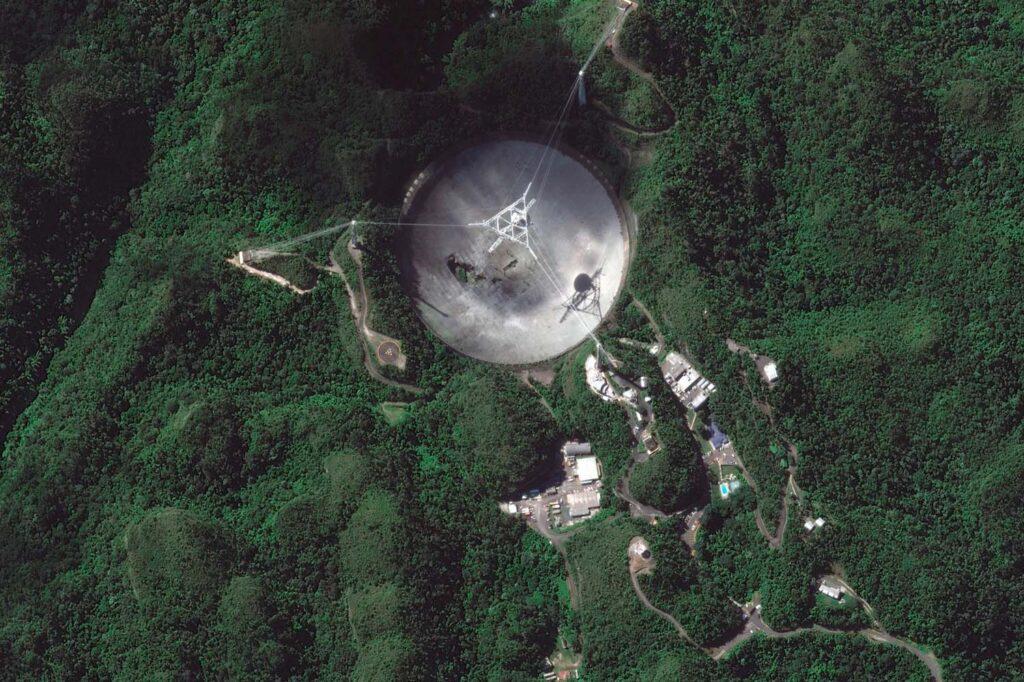 Разрушен один изсамых крупных вмире радиотелескопов