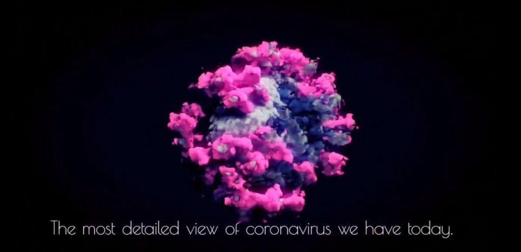 Ученые показали реальную объемную видеомодель коронавируса