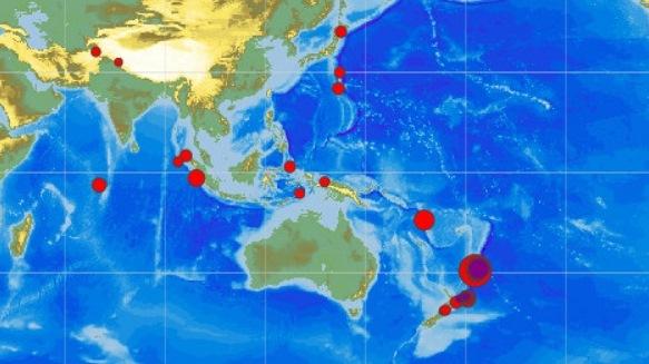 ВТихом океане наблюдаются небывалые землетрясения