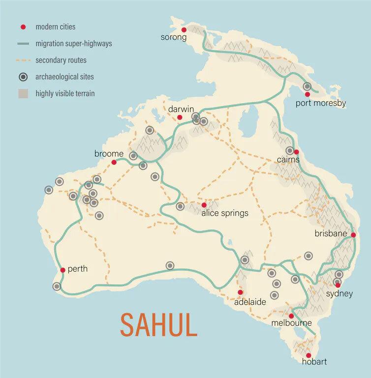 Картографированы древние «супермагистрали», покоторым путешествовали первые австралийцы