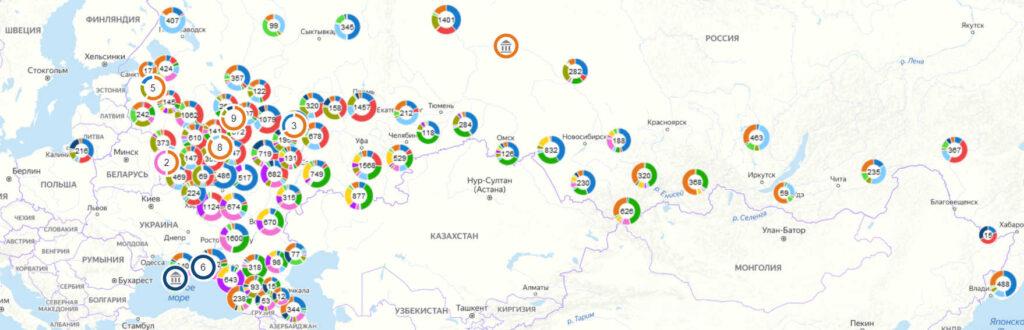 Электронная карта археологических памятников России выложена воткрытый доступ